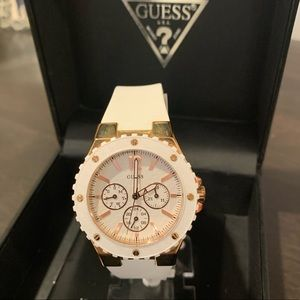 Guess watch. White silicone band very comfy